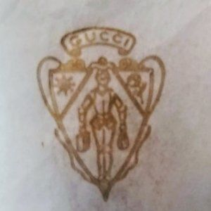 Vintage 80's Gucci Crest Tissue Paper with Foil St